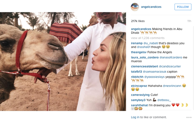 Candice Swanepoel spotted in Abu Dhabi