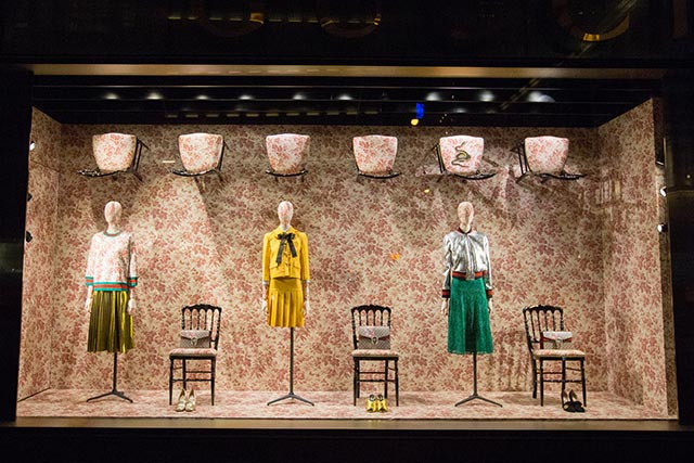 Window Shopping Gucci Unveils New Display For Cruise 2016