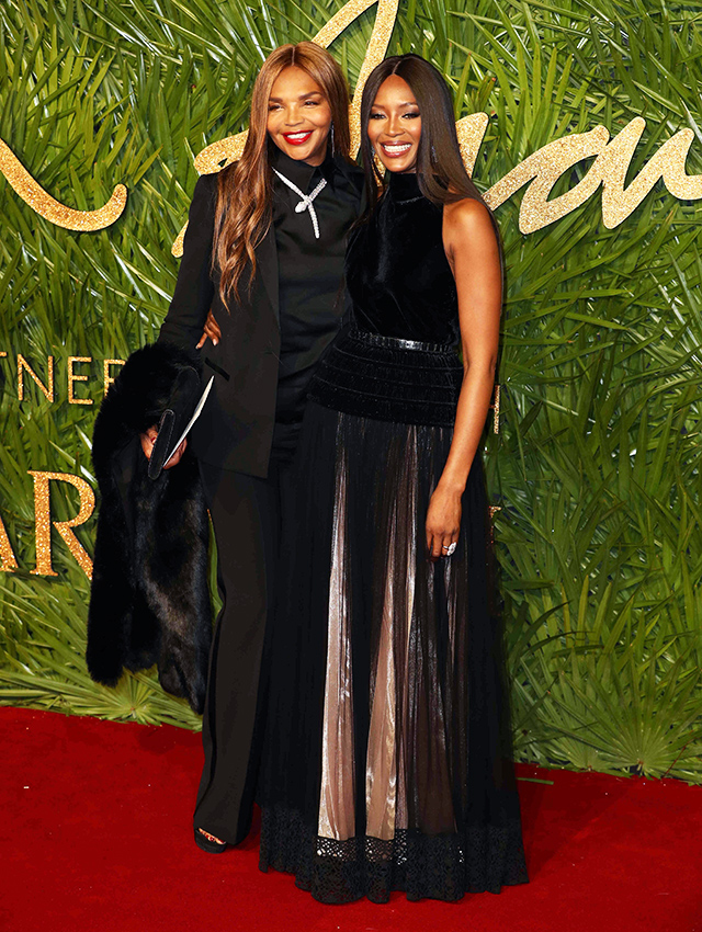 Valerie Morris and Naomi Campbell