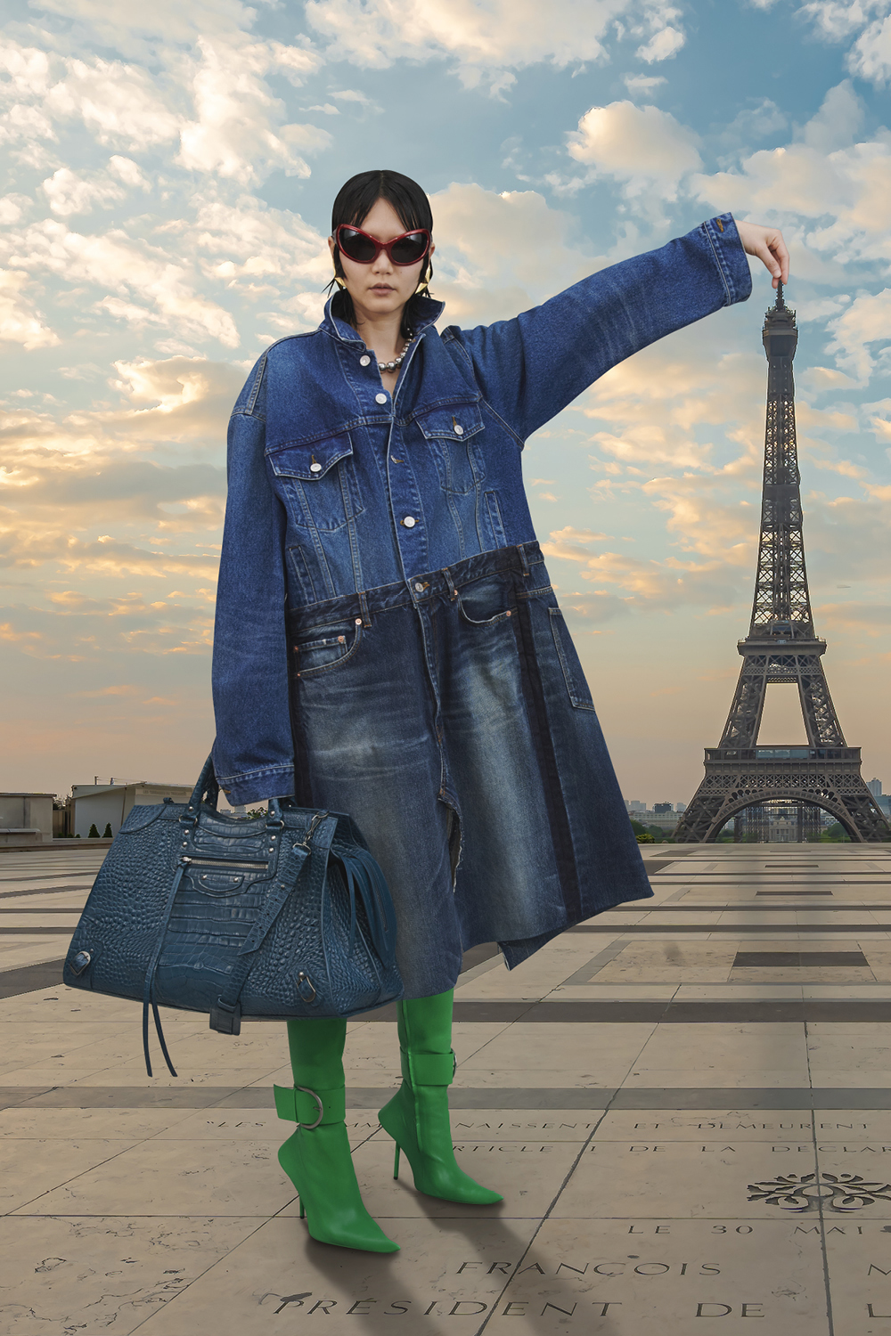 Take a trip around the world with Balenciaga's Winter '21 collection (фото 8)