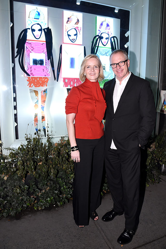 Donald Drawbertson and Kara Ross toast recent collaboration in New York