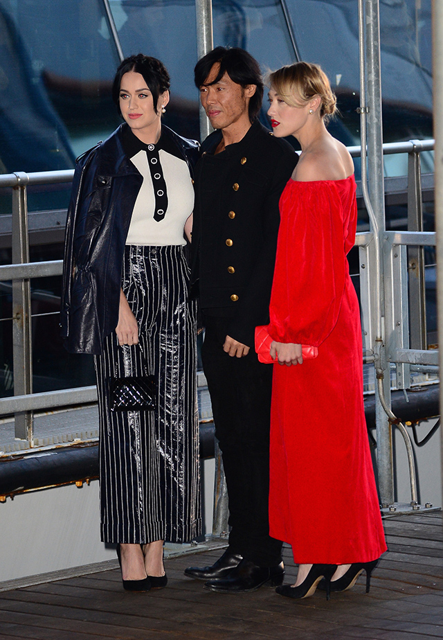 Karl Lagerfeld hosts Chanel yacht party in NYC