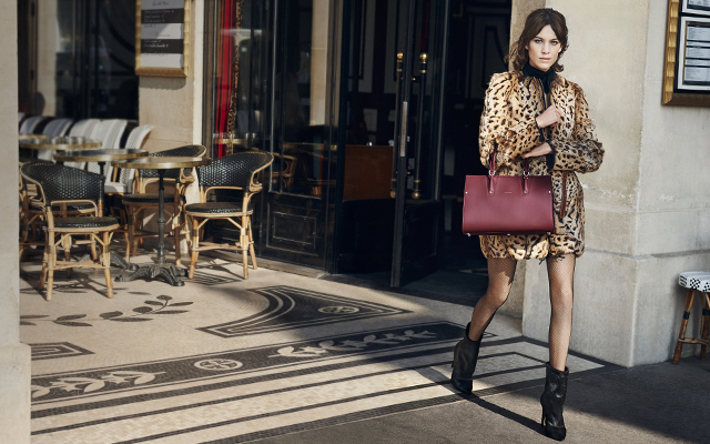 Alexa Chung in Longchamp's Autumn '16 campaign