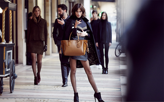 Behind the scenes: Alexa Chung in Longchamp's Autumn '16 campaign