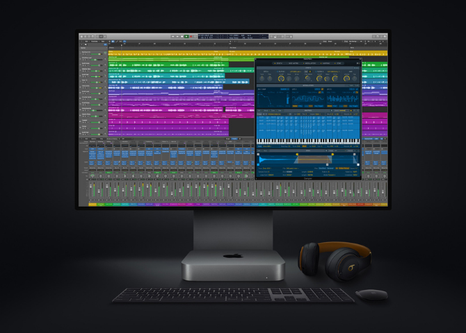 The new Mac mini takes music production to new levels, enabling up to 3x as many real-time plug-ins in Logic Pro