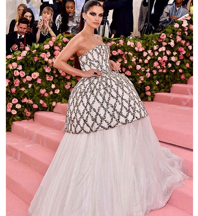 Sara Sampaio wears August Getty Atelier to the 2019 Met Gala
