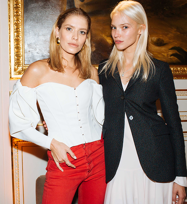 Elena Perminova and Sasha Luss
