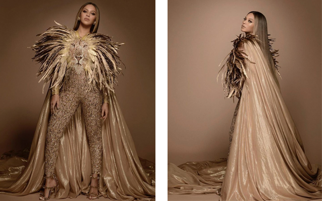 Beyoncé's custom lion bodysuit by Georges Hobeika is anything but fierce (фото 1)