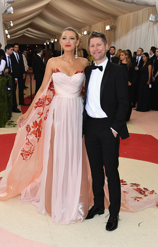 Blake Lively and Christopher Bailey in Burberry