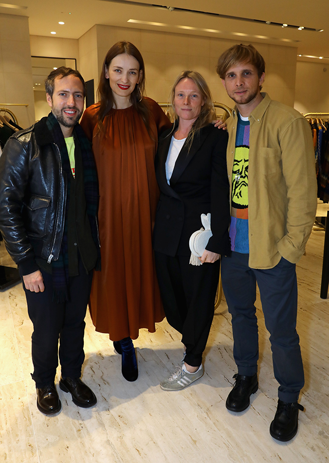 Peter Pilotto, Roksanda Ilincic, Luella Bartley and Christopher de Vos