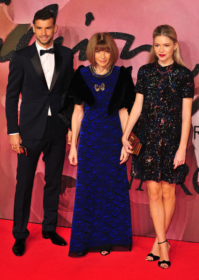 Grigor Dimitrov, Anna Wintour and Ellie Wintour