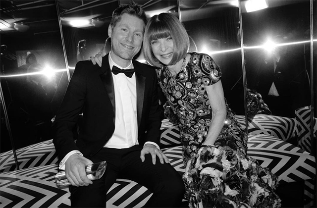 Christopher Bailey is awarded for his Outstanding Contribution to British Fashion by Dame Anna Wintour
