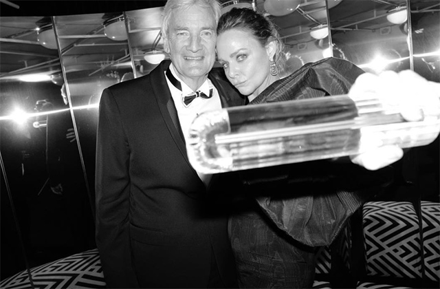 Stella McCartney received the Special Recognition Award for Innovation, presented to her by James Dyson
