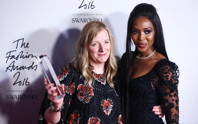 Sarah Burton and Naomi Campbell