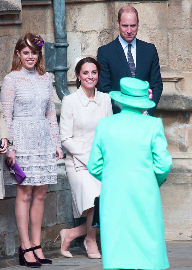 Princess Beatrice, Kate Middleton, Prince William and Queen Elizabeth II