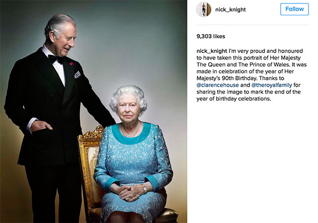 Queen Elizabeth II and Prince Charles in a new portrait shot by Nick Knight