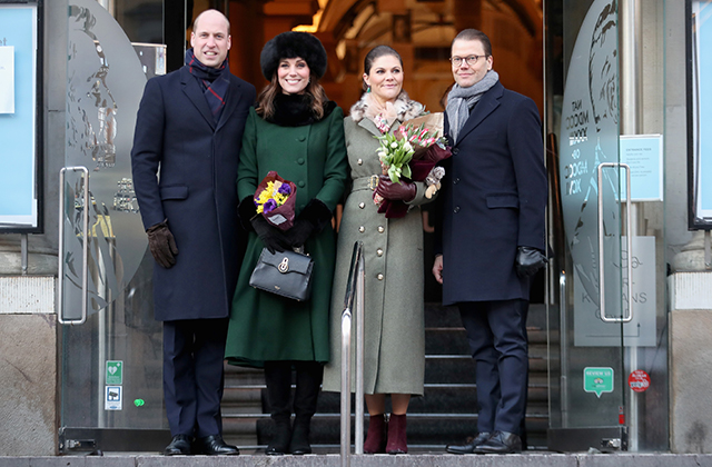 Prince William and Kate Middleton begin their royal tour of Sweden and Norway (фото 1)