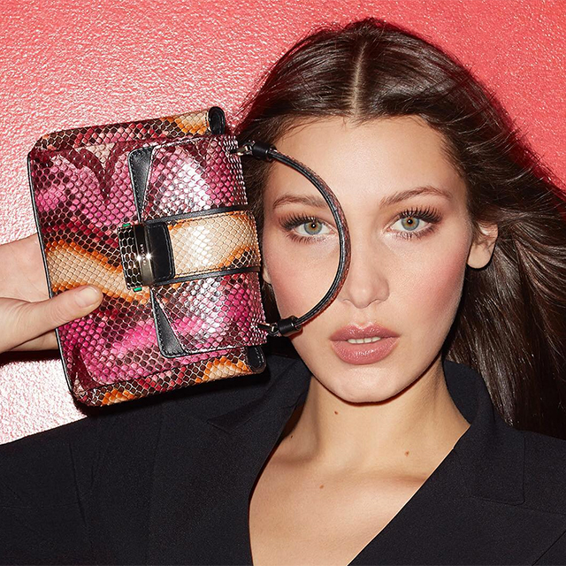 Bulgari's Serpenti Fall/Winter '17 collection campaign with Bella Hadid