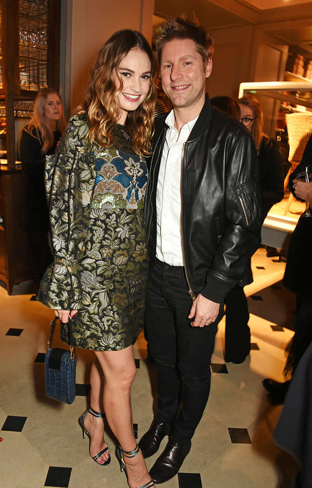Lily James and Christopher Bailey