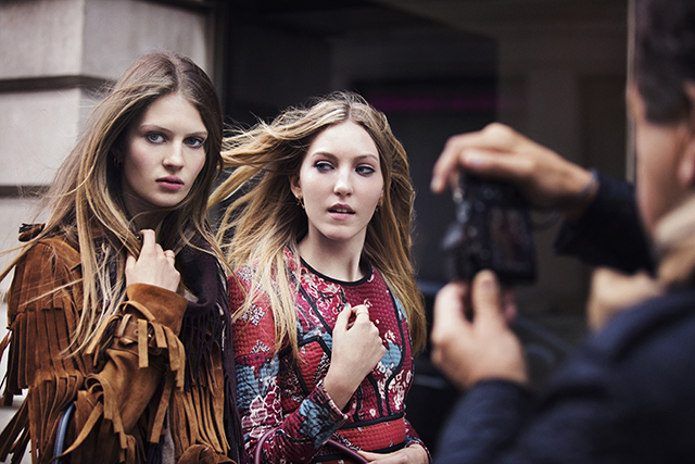 Behind the scenes burberry
