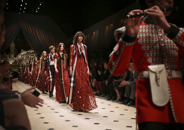 Burberry stages London themed fashion show at London in LA event