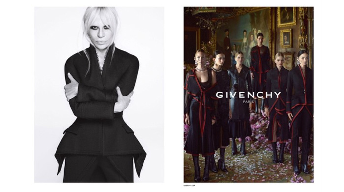 Breaking: Donatella Versace stars in new Givenchy campaign image (фото 1)