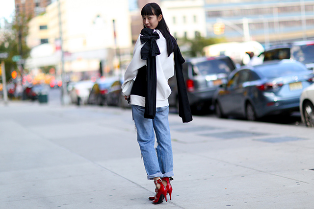 New York Fashion Week SS15 Street Style: Part IV (фото 14)
