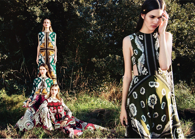 Full look: Valentino's new romantic campaign for SS15