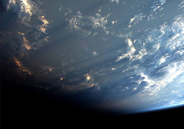 Rare photos of clouds shadows taken from space (фото 2)