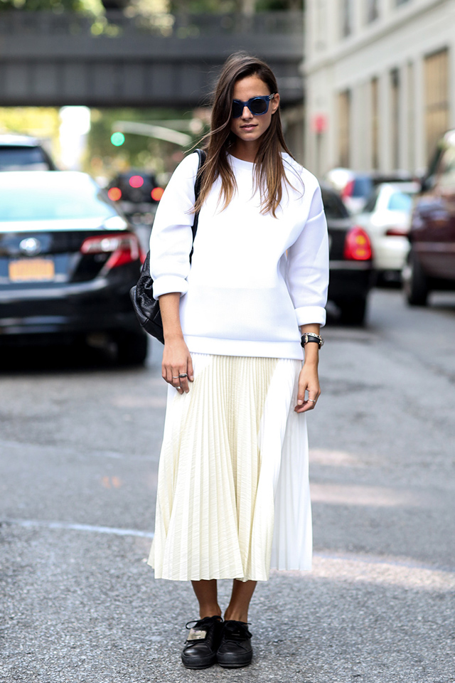 New York Fashion Week SS15 Street Style: Part IV (фото 5)