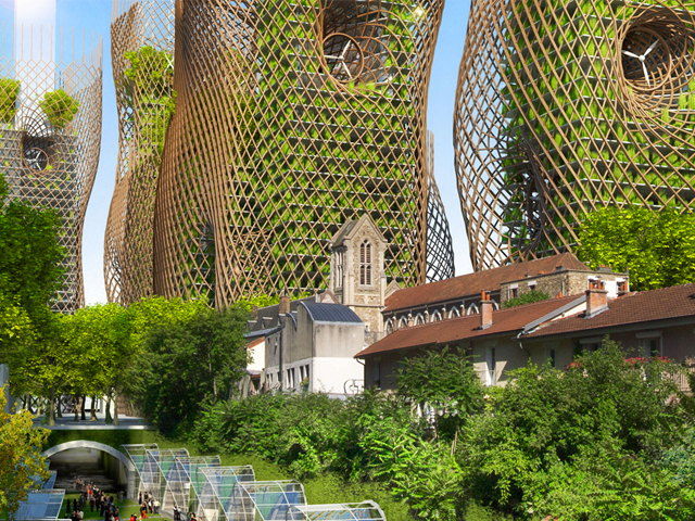Vincent Callebaut designs eco-friendly towers for the future of Paris