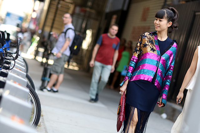 New York Fashion Week SS15 Street Style: Part IV (фото 6)