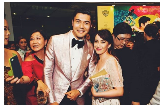 Natalie Wong with Henry Golding