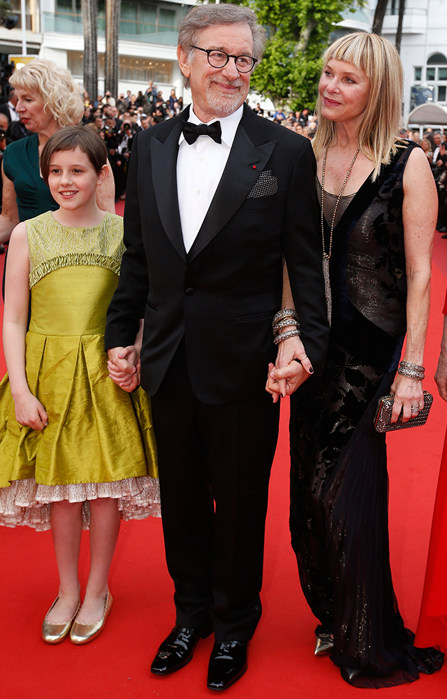 Ruby Barnhill, Steven Spielberg and Kate Capshaw
