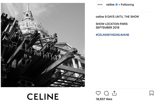 The show location for Hedi Slimane's Celine debut has just been revealed (фото 1)