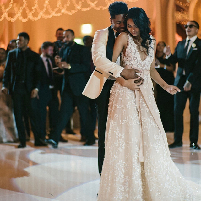 Chanel Iman just got married in a gown made by a Middle Eastern designer (фото 4)