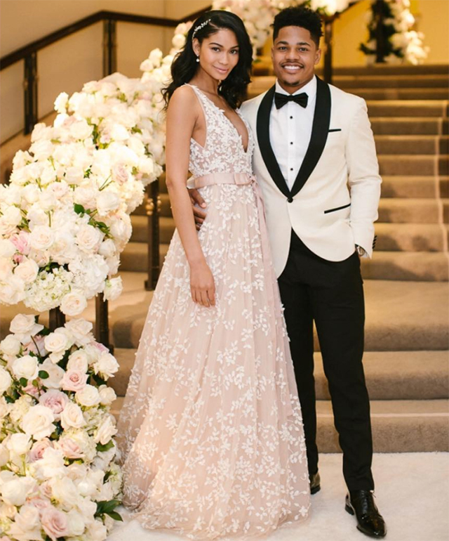 Chanel Iman just got married in a gown made by a Middle Eastern designer (фото 3)