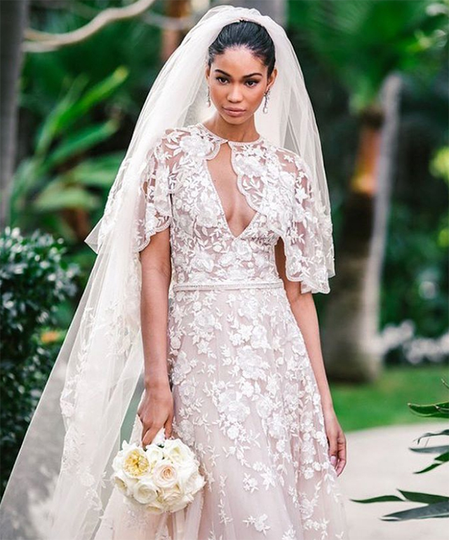 Chanel Iman just got married in a gown made by a Middle Eastern ...