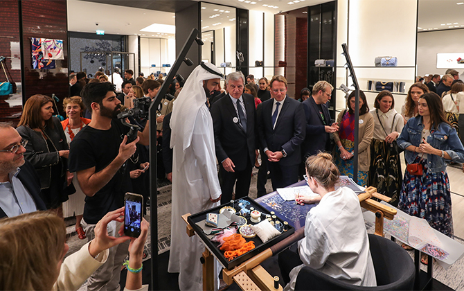 Inside the inauguration of the Flânerie Colbert at the House of Artisans with Chanel (фото 1)