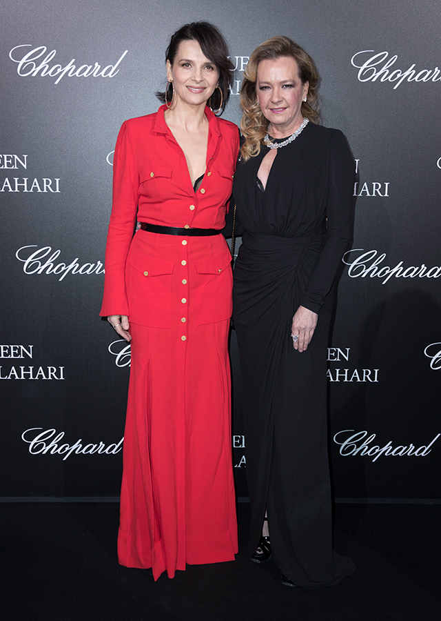 Juliette Binoche and Caroline Scheufele