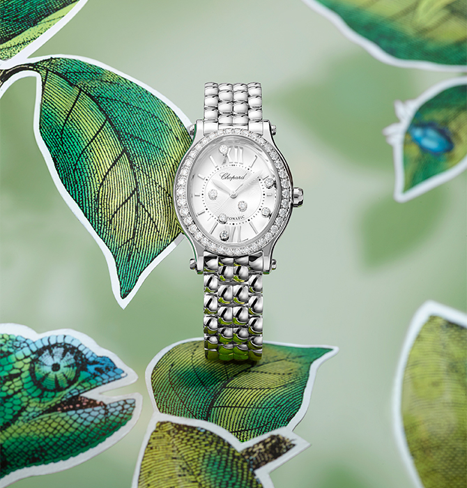 One of Chopard's most iconic models is transformed into four new elegant variations (фото 1)