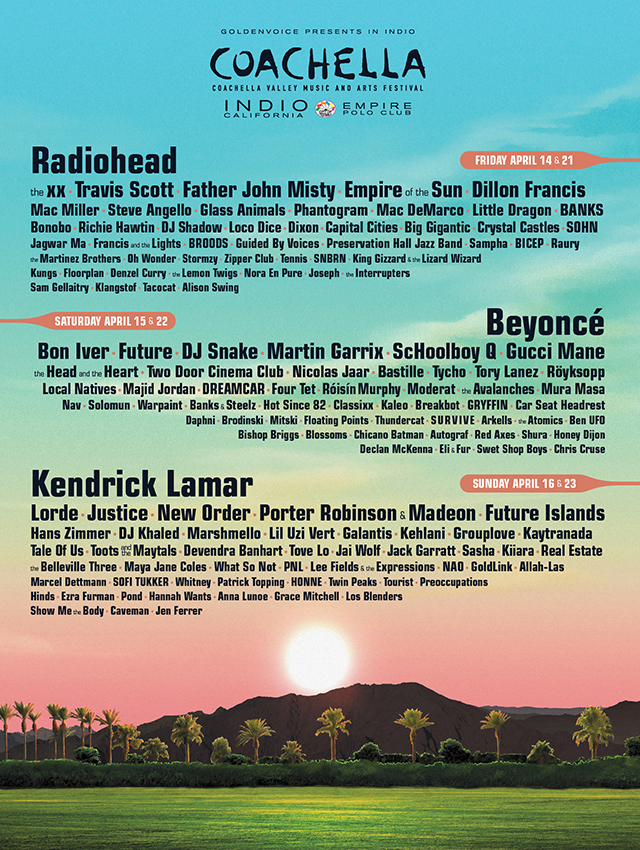 Coachella 2017 line-up
