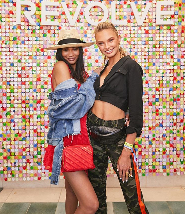 Chanel Iman and Romee Strijd