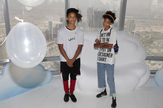Jayden and Willow Smith land in Dubai