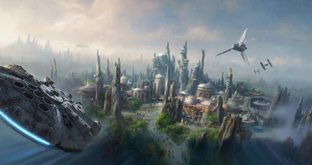 DISNEY ANNOUNCES MASSIVE STAR WARS-THEMED LANDS IN THEIR PARKS