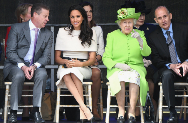 The Duchess Of Sussex Makes Her First Solo Appearance With The Queen