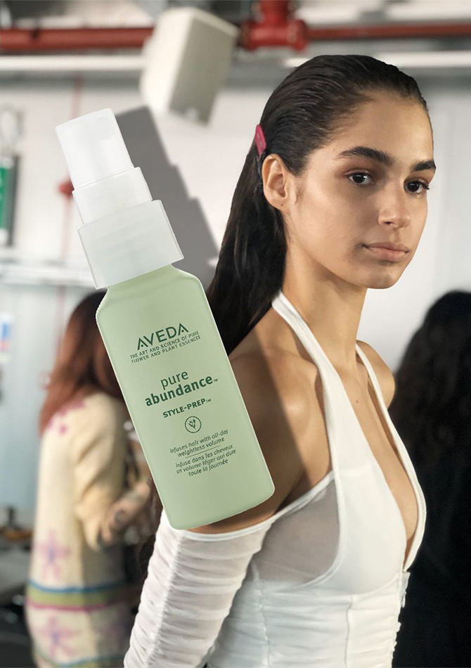 THE SHOW HERO: Aveda Pure Abundance Style Prep, £23 (Dhs109)