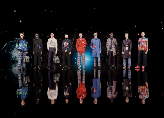 Dior's Kim Jones and Kenny Scharf team up for Men's Fall 2021 collection (фото 1)