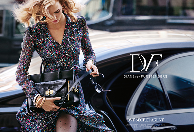 Karlie Kloss stars in Diane Von Furstenberg's new campaign for AW15 (фото 1)