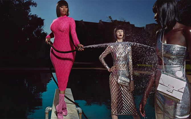 Nicki Minaj fronts Fendi's Prints On capsule collection in a new music video (фото 1)